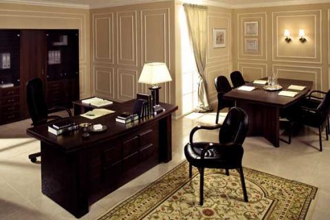 темная мебель для кабинета