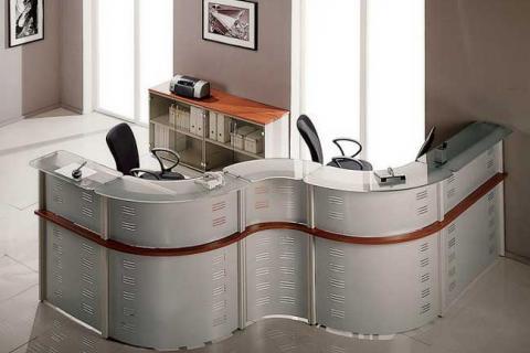 металлизированная офисная стойка