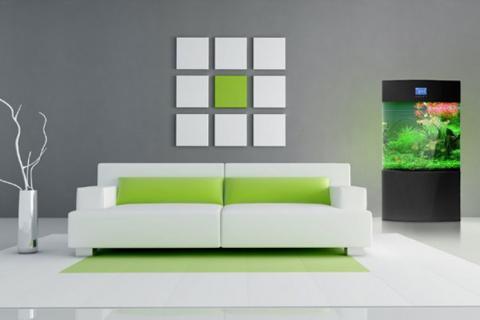 белый диван в минималистичном стиле