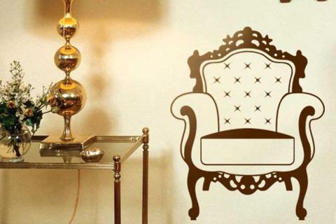 наклейка сказочного кресла