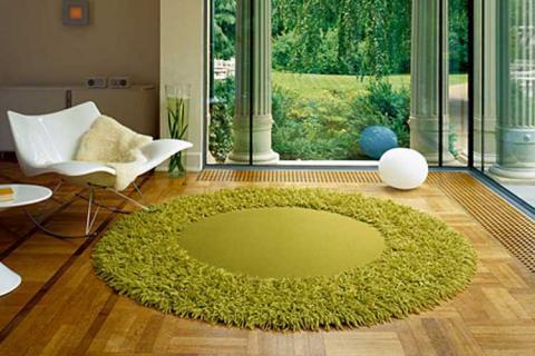 зеленый круглый ковер