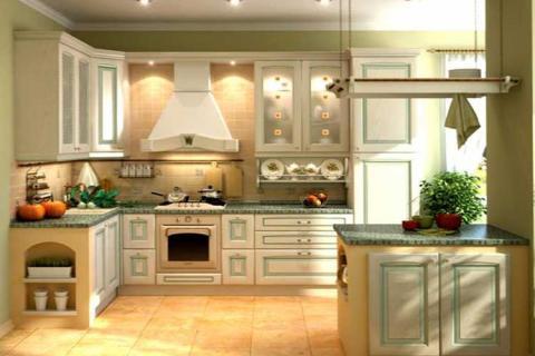 кухня пастельных тонов