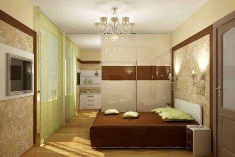 перегородка между кухней и спальней