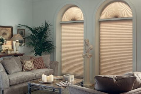 шторы-плиссе в классической гостиной