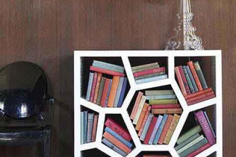 книжные полки-многоугольники