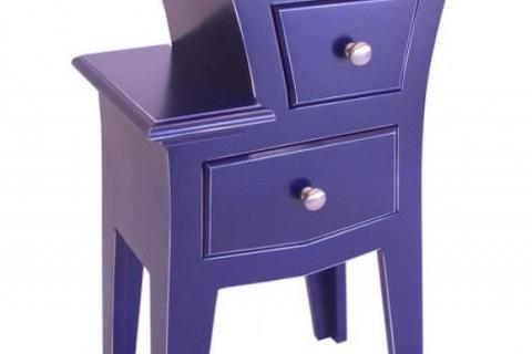 фиолетовая тумбочка