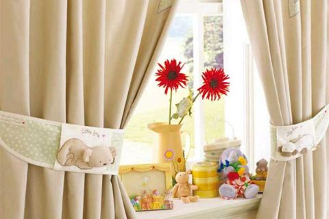 декоративные подхваты для штор в детской