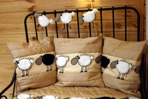 декорирование подушек в детской