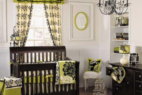 зеленые шторы для детской
