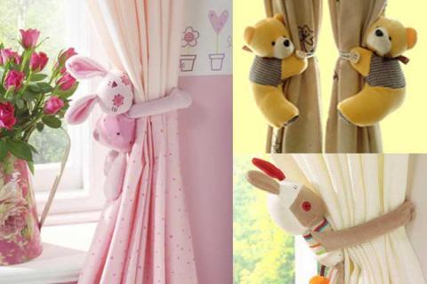 прихватки-игрушки для шторы в детской