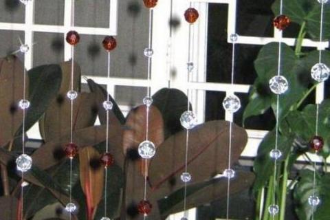 оконные шторы из бусин