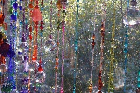занавески из стеклянных бусин