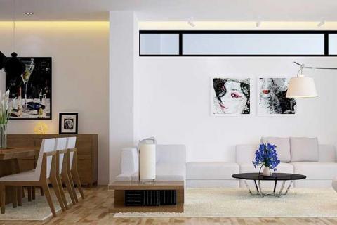 столовая-гостиная в современном стиле