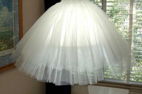 абажур из юбки