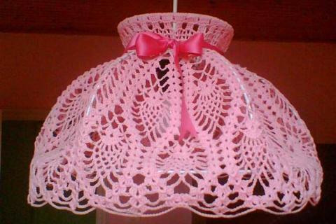 розовый абажур
