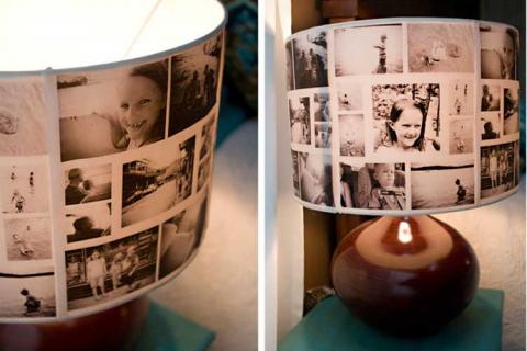 абажур с фотографиями