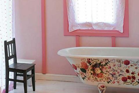декупаж ванной