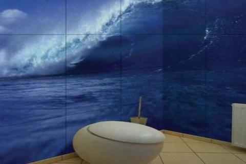 изображение морской волны на плитке