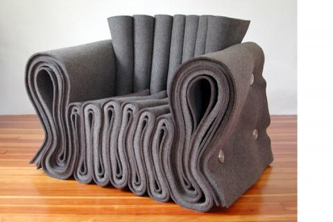 войлочное кресло нестандартной формы