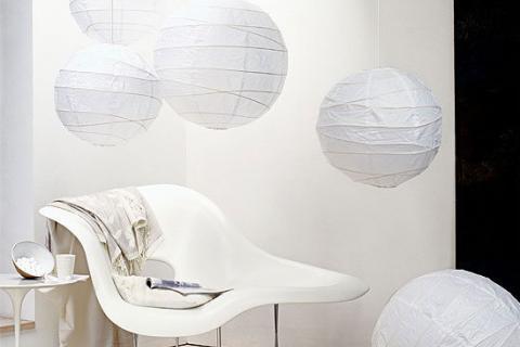 белые шары-плафоны