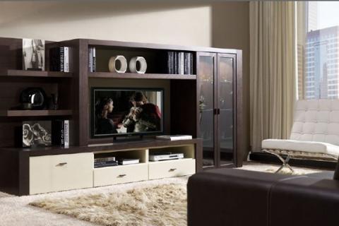 контрастная корпусная мебель