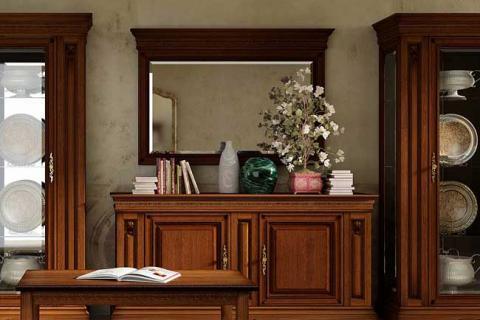 зеркало в гостиной стиля ампир