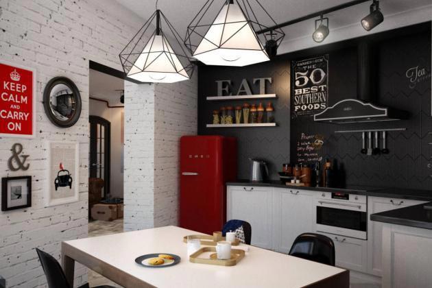 кухня в лофт-стиле