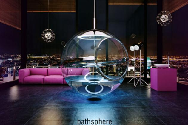 концепт сферической ванной