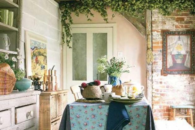 терраса кухни в стиле прованс