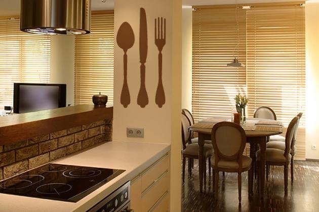 наклейки в кухне-столовой