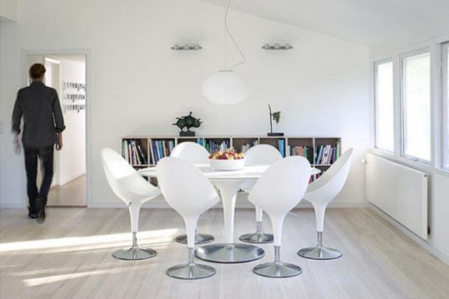 Столовая в белом цвете