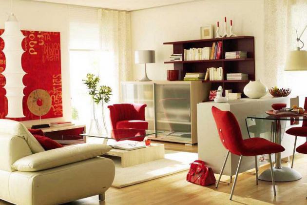 зонирование при помощи мебели