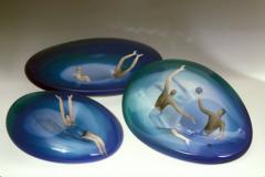художественные тарелки из стекла