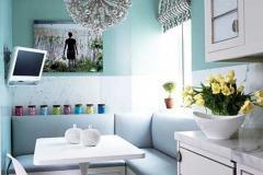 маленькая кухня в голубых тонах