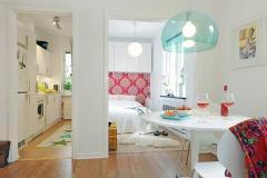 светлая маленькая квартира