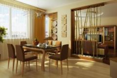 Перегородки между гостиной и кухней