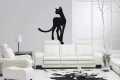 наклейка черной кошки