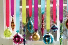 украшение из лент с шарами