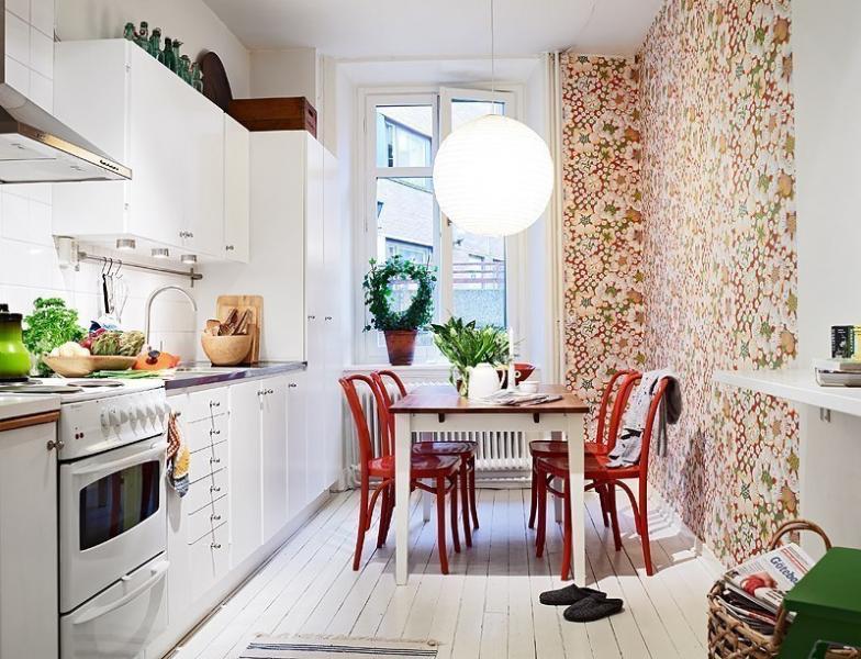 Узкие фотообои на кухню