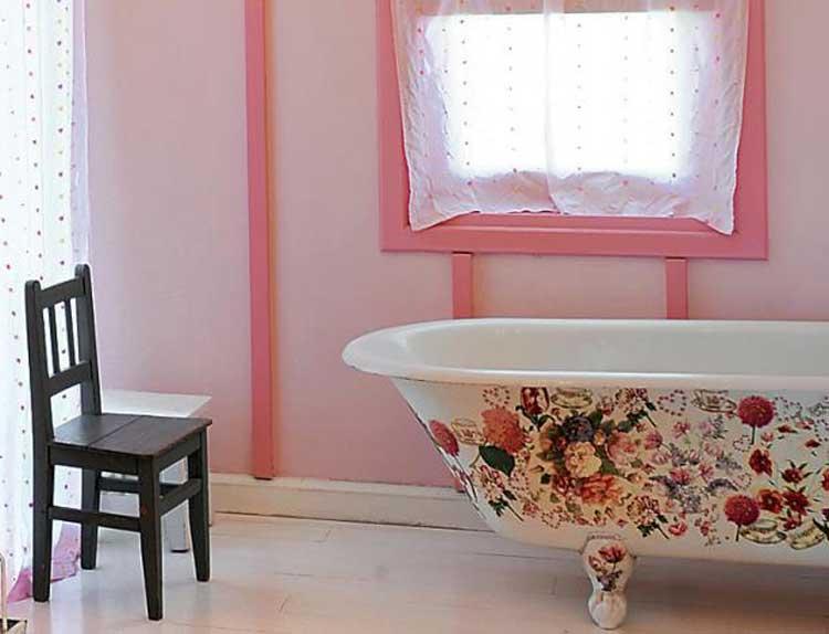Декорирование ванной комнаты своими руками фото 42