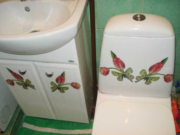 Декор в ванной комнате своими руками