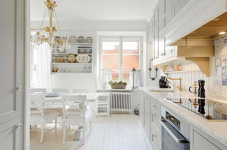 Белая кухня может быть выбрана если